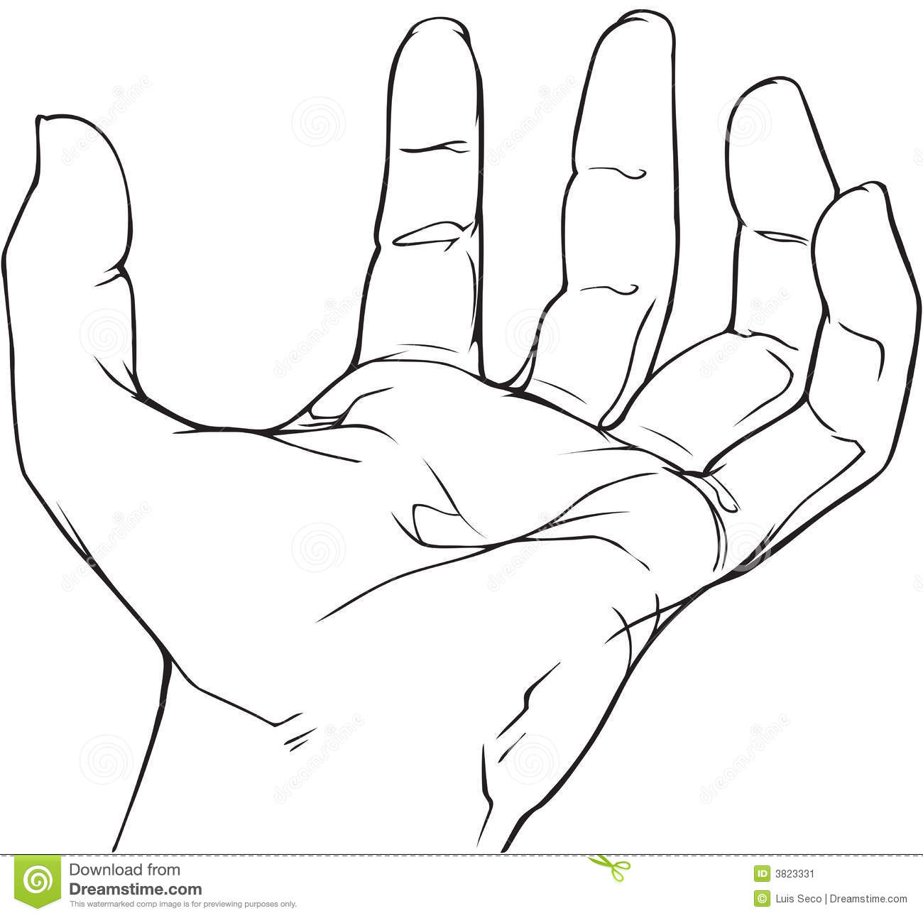 Hand Outline 2 Gclipart