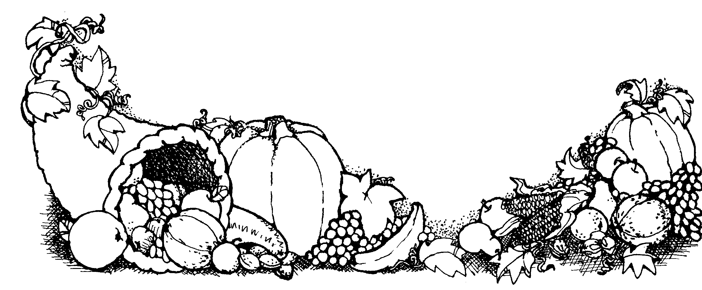 Turkey Black And White Thanksgiving Clipart Black And