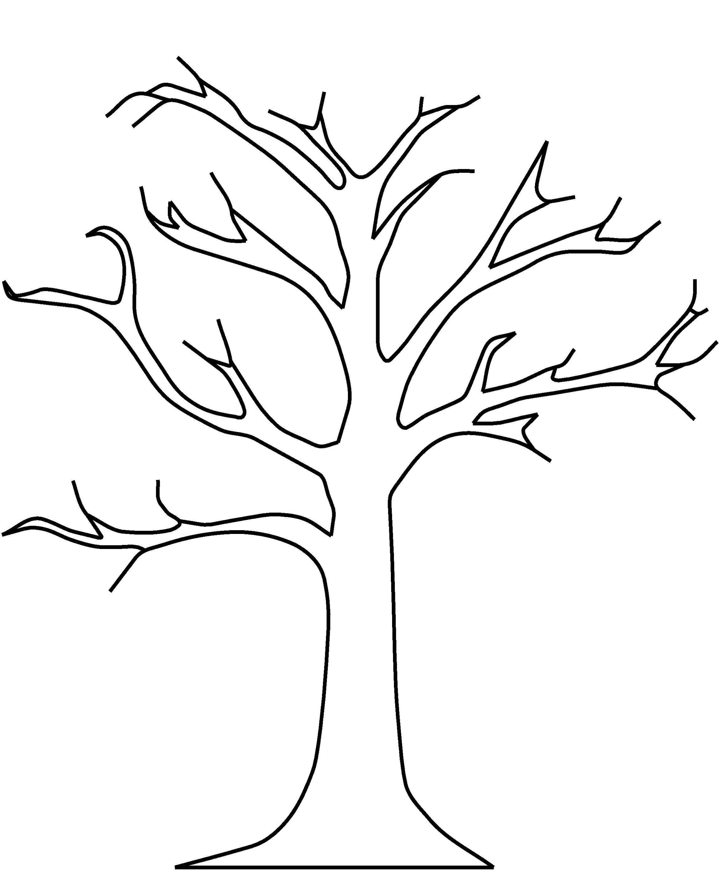 Leaf Black And White Tree No Leaves Clipart Black And
