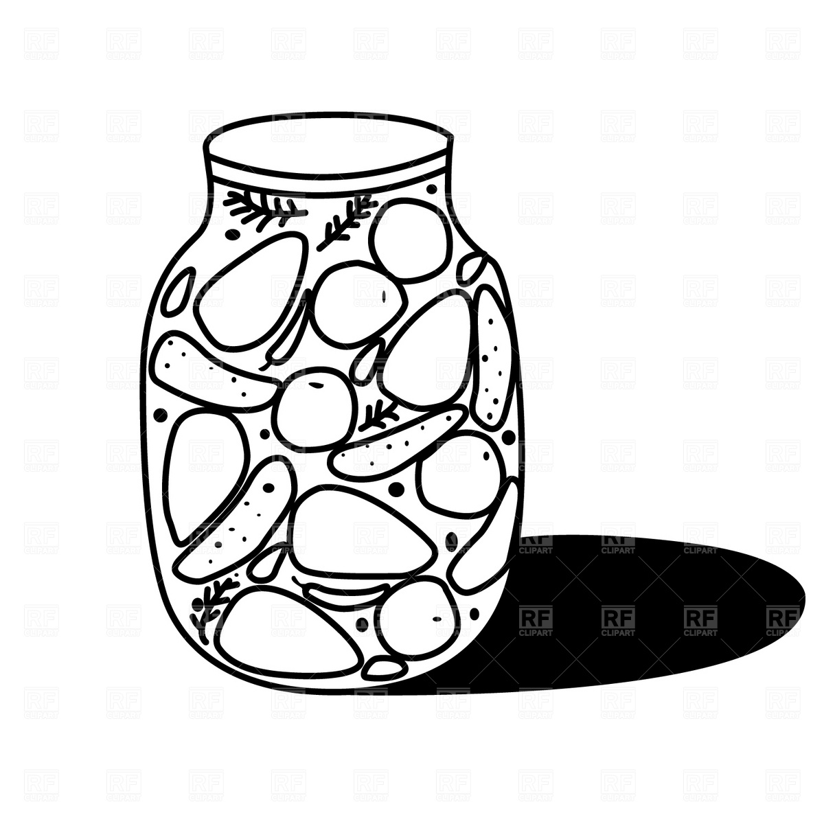 Vegetables Black And White Black Clip Art Gclipart