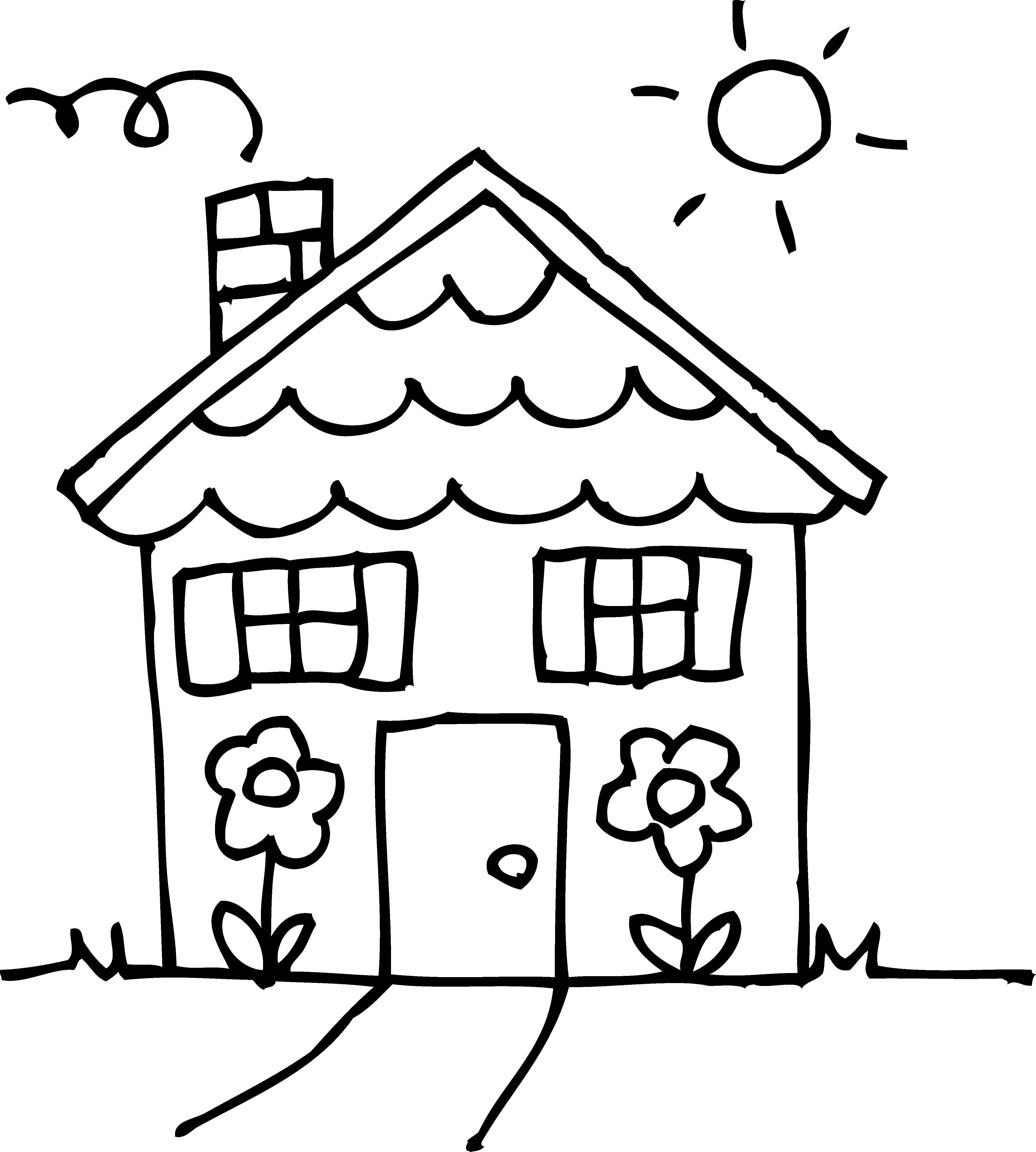 House Black And White House Clipart Black And White Clip
