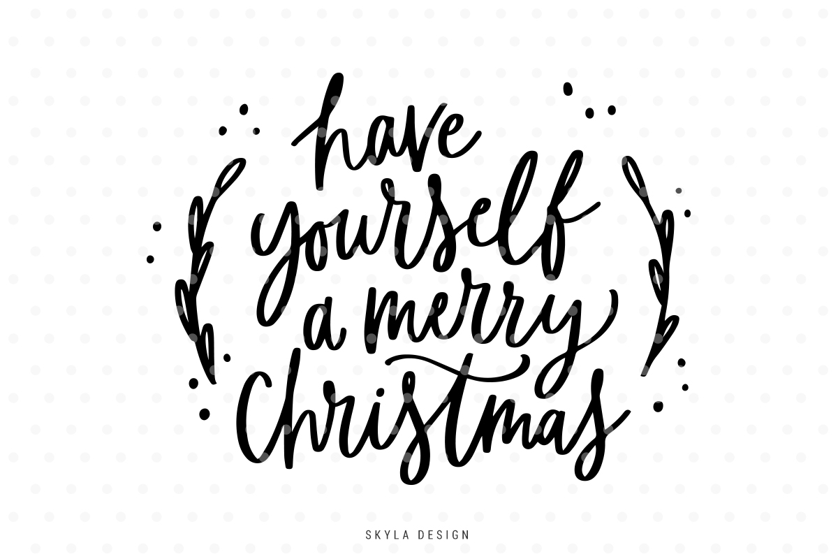 Merry Christmas Black And White Gclipart