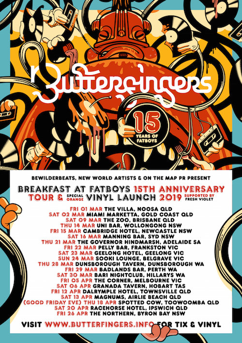Butterfingers Fatboys 15 Year Tour Poster low res