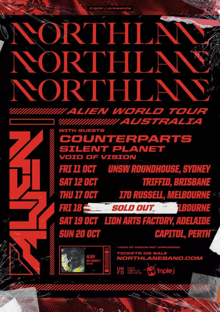 Northlane Tour Poster