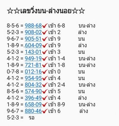 หวยฮานอย 13/1/63 ชุดที่ 18