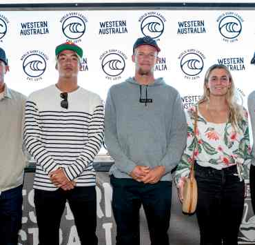 Surfers hit the water at Margaret River Pro