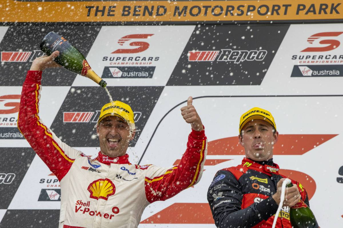Fabian Coulthard takes win on 200th start at the Bend