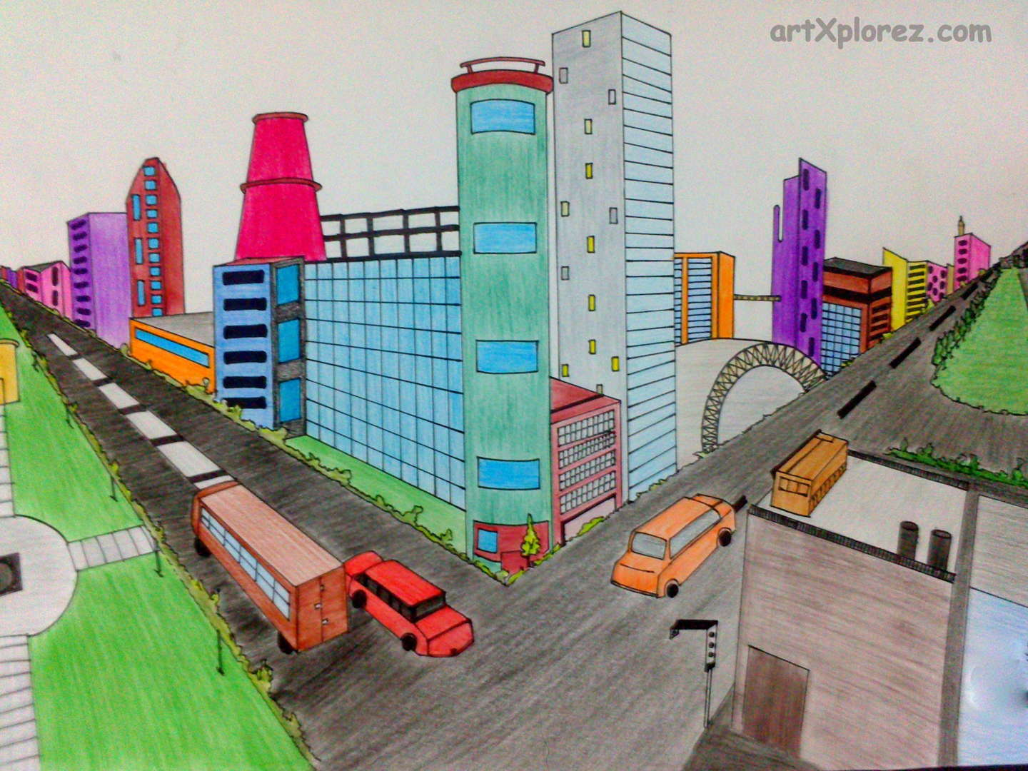 Two Point Perspective Student Made Gcmsart