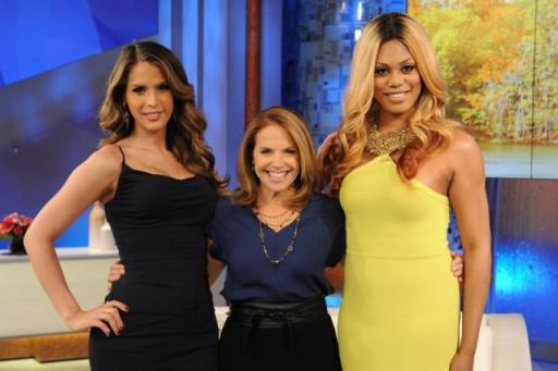 Katie Couric with Carmen and Laverne.