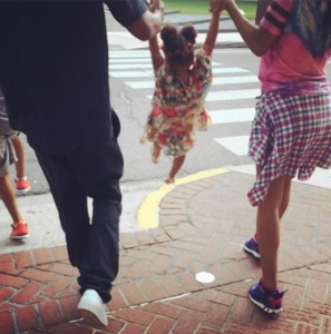 Beyonce with Jay Z & daughter Blue Ivy