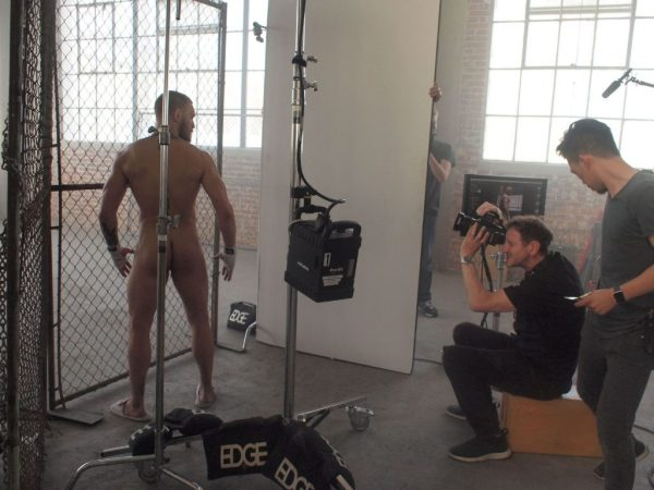 Conor McGregor in the Naked ESPN video facing away with his ass visible