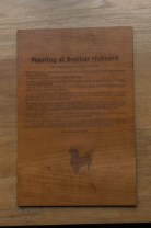 Brother hubbard - wooden plaque