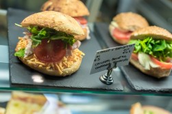 Delicious looking sandwiches inside Aperitivo