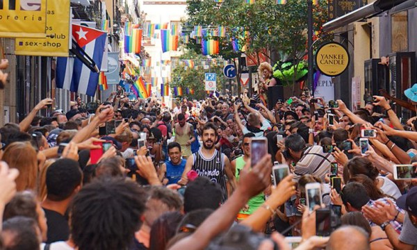 Madrid Pride in Spain, one of the LGBT friendly countries the Irish diaspora could relocate to