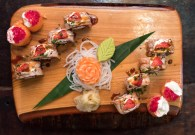 A sushi board from Yamamori Sushi, who's manager Graham Ryan we interviewed in this month's Amuse Bouche