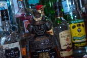 An artefact in front of liquor from Yamamori Sushi, who's manager Graham Ryan we interviewed in this month's Amuse Bouche
