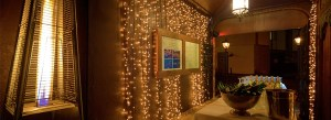 An array of fairy lights at marco pierre white courtyard bar and grill donnybrook
