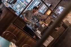 A barman at San Lorenzo's