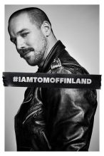 A man wearing leather jackets for the film Tom of Finland, one of today's Cuppán Gay stories