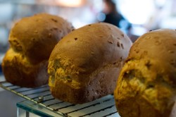 Fresh baked bread at the cake cafe and slice which are both owned by Ray O'Neill