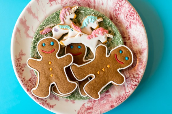 Gingerbread men and unicorns at the cake cafe and slice which are both owned by Ray O'Neill