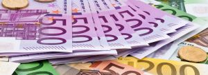 A picture of euro notes which is symbolic of the financial questions that the charities regulator is seeking to know about the finances of GLEN