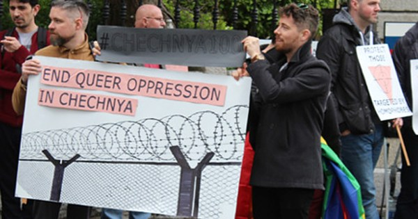 Russian Embassy protesters