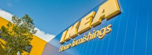 Ikea home furnishings exterior with a tree on the left hand side