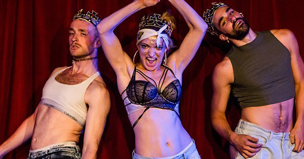 Triple threat stars Lucy McCormack and her Girl Squad in crop tops, daisy dukes and crowns as part of the Dublin Fringe Festival 2017