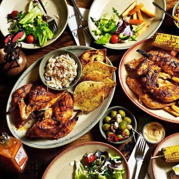 Delicious looking plates of food from Nando's Ireland