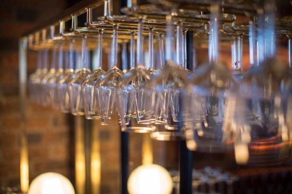 The Tomahawk steakhouse wine glasses rack