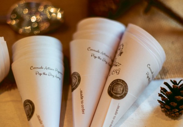 The cornude cones for special events and weddings from Ruth Ormiston