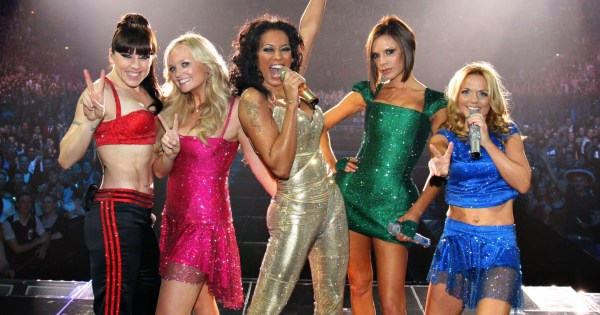 Spice Girls singing at their reunion tour