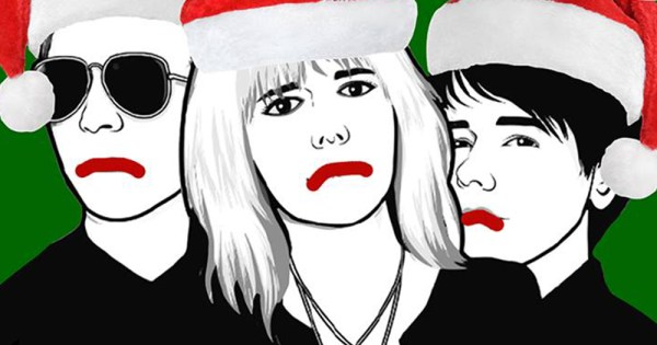 Single cover artwork for queer artists Session Motts song Shit it's Christmas
