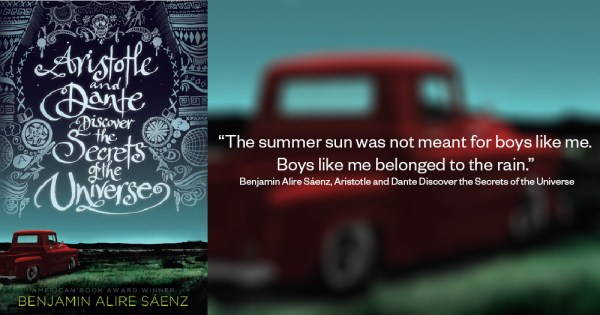 Book cover and excerpt from Aristotle and Dante Discover the Secrets of the Universe
