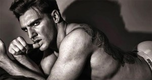 Male Model Gary Talbot in a black and white shoot