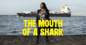 Poster for The Mouth Of A Shark showing a woman standing by the seaside