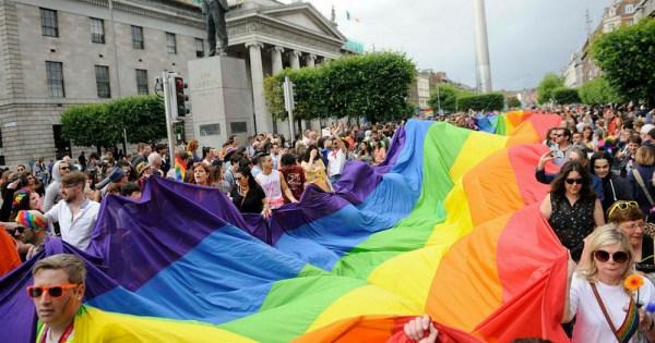 Celebrating Dublin Pride on O'Connell Street