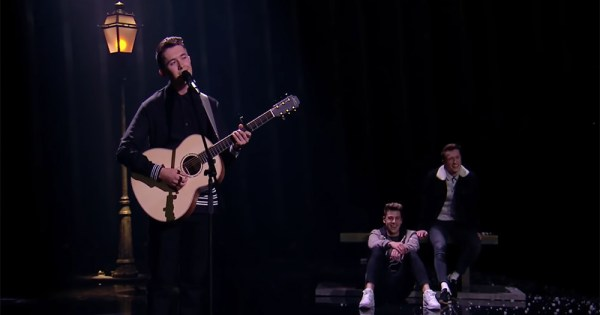 Ryan O'Shaughnessy's performance featuring the gay couple dancing for which he received death threats.