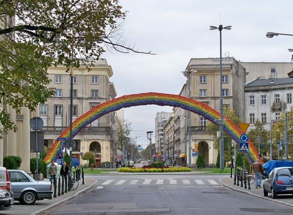 The rainbow as it stood in October 2012