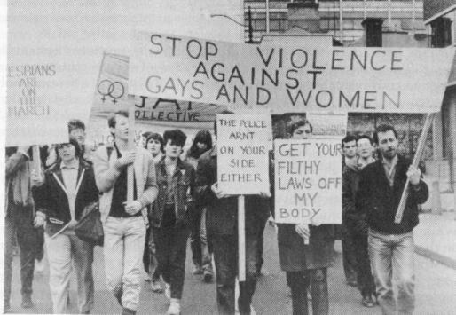 The first Pride parade in 1983, which made its way from Liberty Hall to Fairview Park.