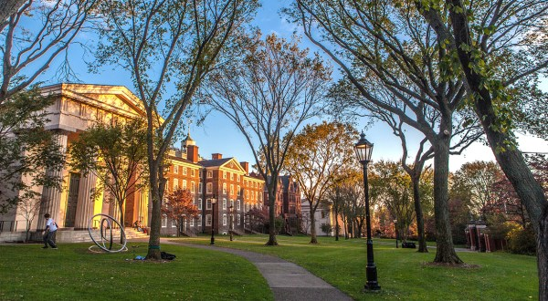 Image of Brown University building and quad