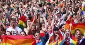 Crowd at Dublin Pride