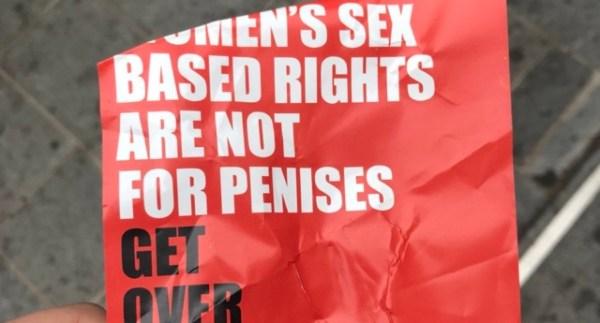 anti-trans poster Edinborough