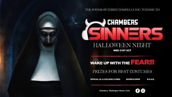 sinners night at Chambers in Cork