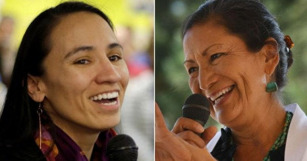 Sharice Davids and Deb Haaland made history as the first Native American women elected to Congress.