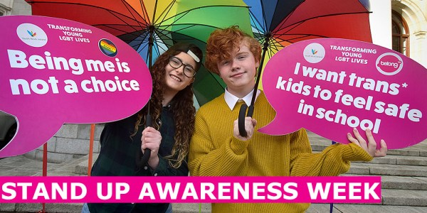 StandUp Awareness week posters which tackle anti-LGBT bullying in schools