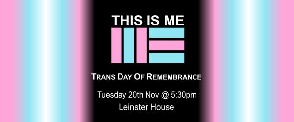 Trans day of remembrance protest poster