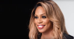 Image of Laverne Cox against black and white backdrop.