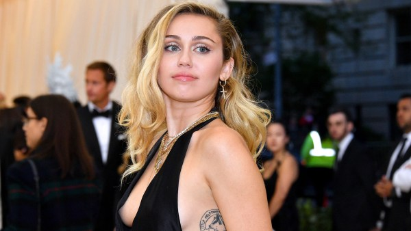 Miley Cyrus on the red carpet of the 2018 Met gala in New York